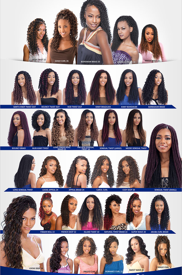 Crochet Braid Hair Chart