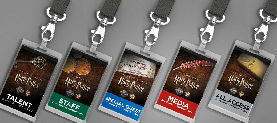 Credentials for various groups at the Event