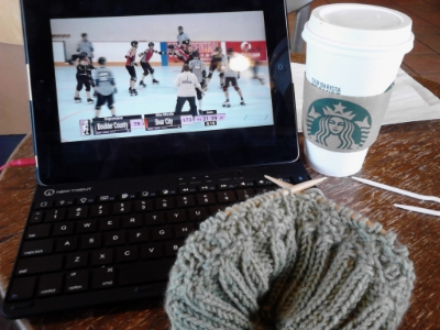 A few of my favorite things: roller derby, knitting, and Pumpkin Spice Latte