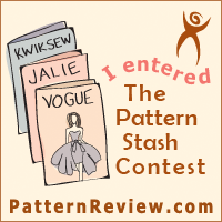"Okay, technically it should read ""I'm ENTERING The Pattern Stash Contest"" but you get the idea."
