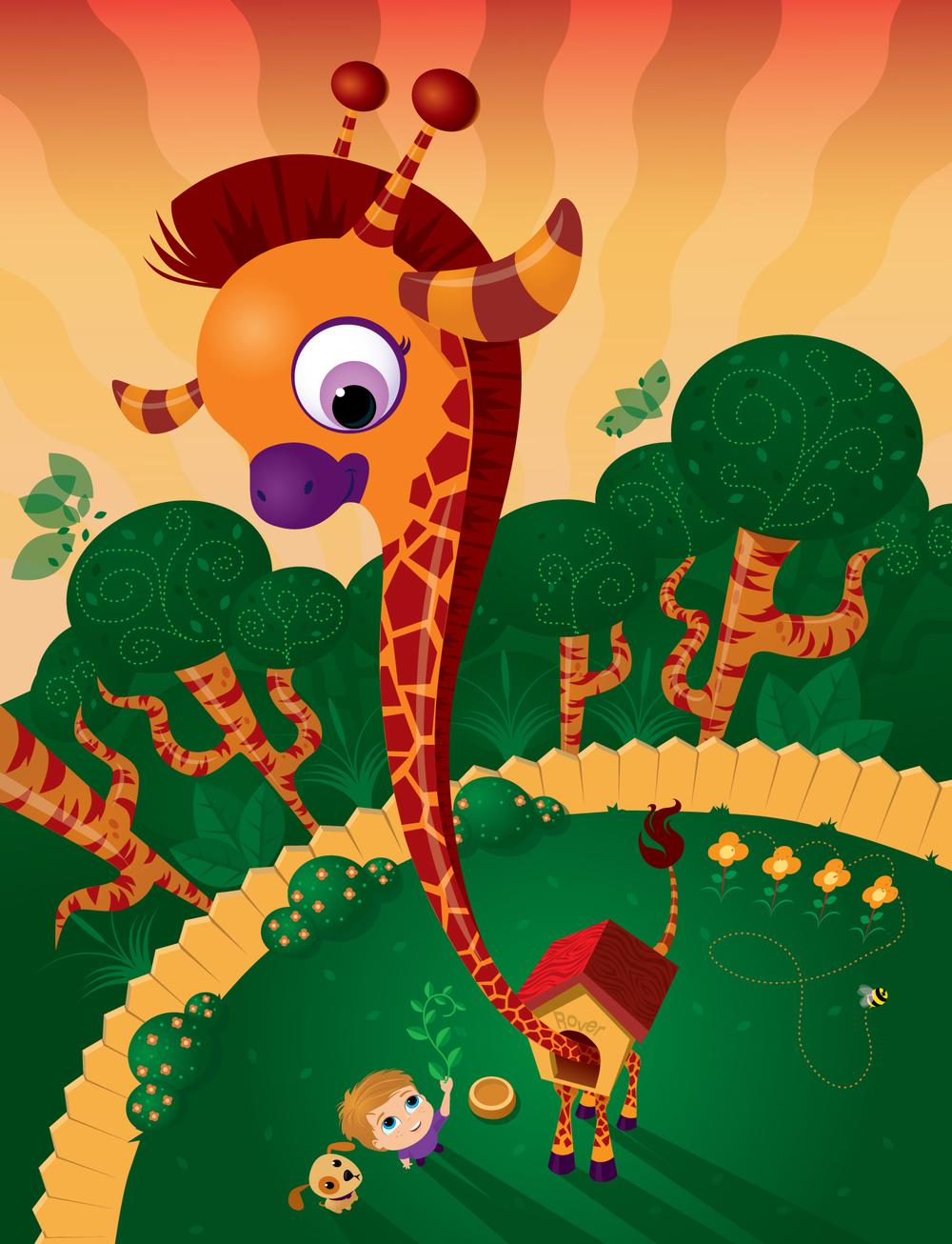 Giraffe in my back yard