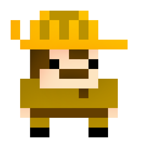 An example of a character that can be created with Bloxels. This is Safari Jack , or sometimes called Safari Bob.