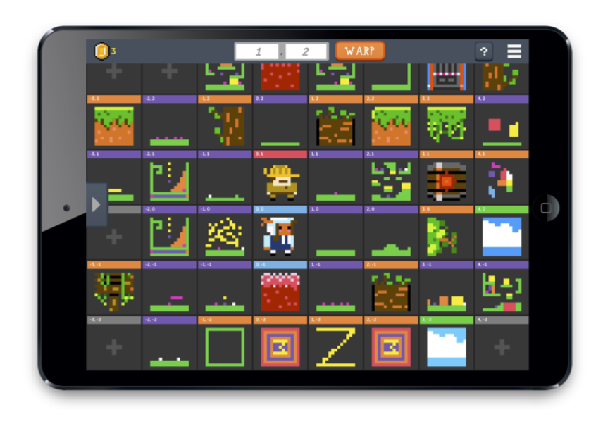 The Bloxels Infinity Wall, where all the content you share is displayed!
