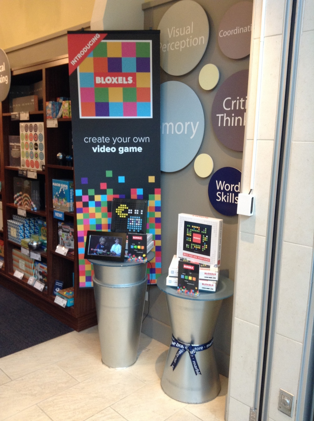 The Bloxels display at the Columbia, Maryland store.