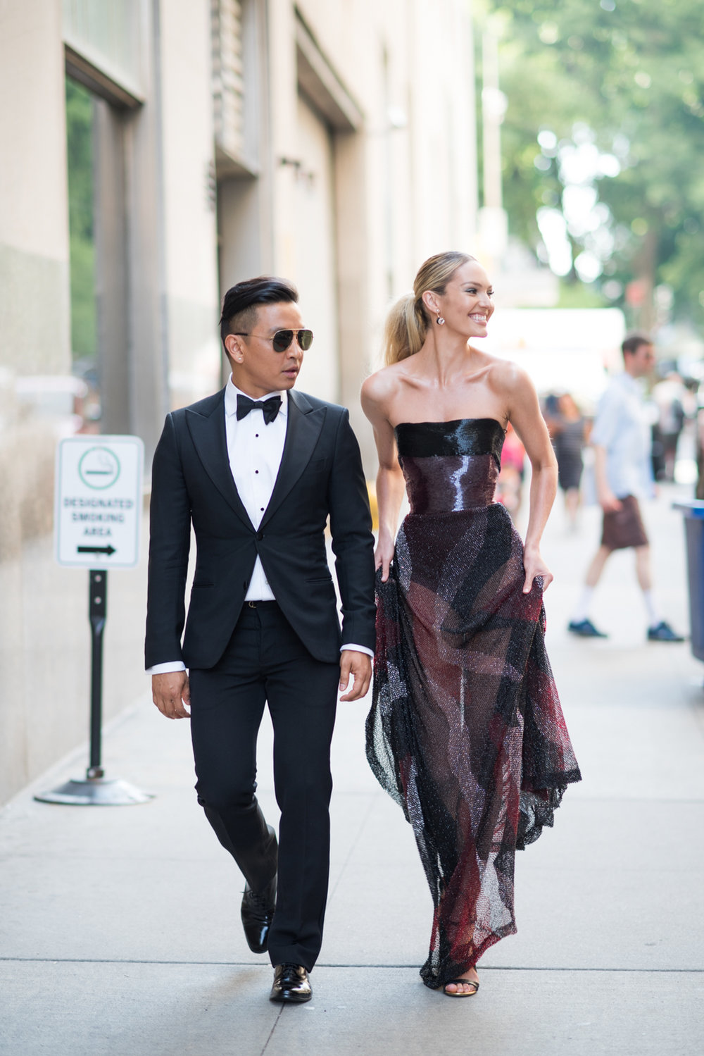 Candice Swanepoel and Prabal Gurung
