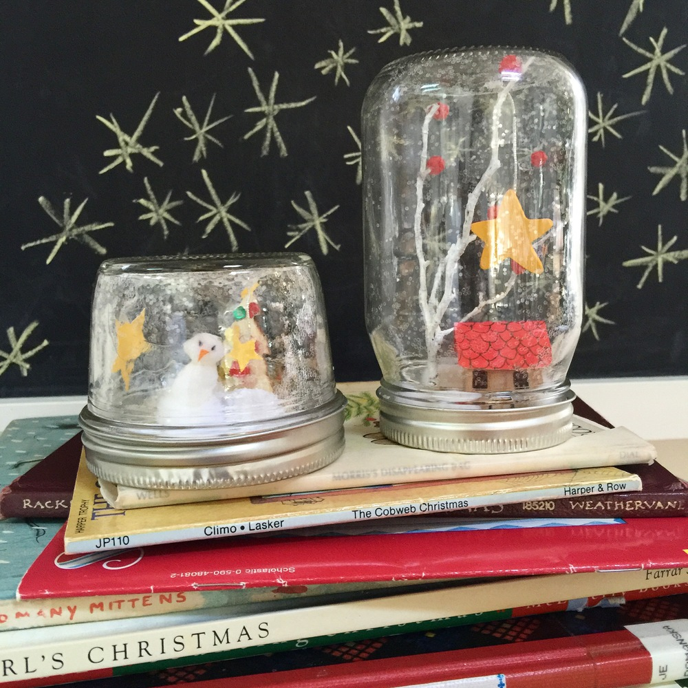 our snow globe DIY project