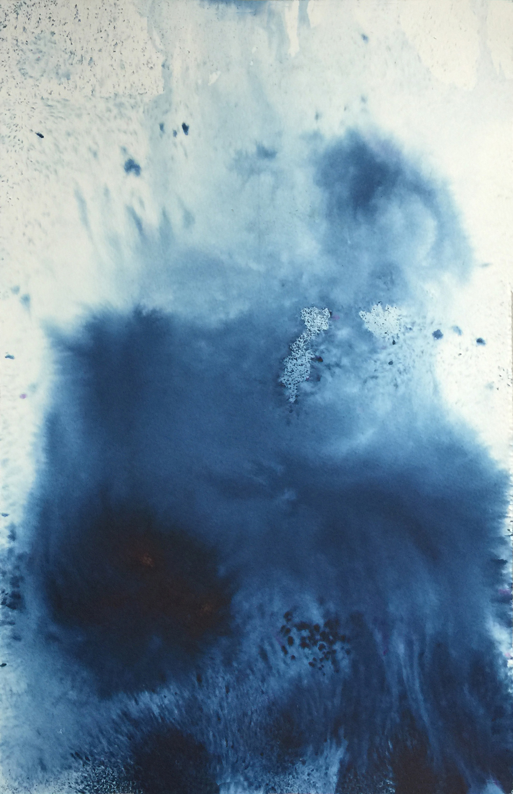 Flow Series, pigment and ink on paper, Ink and Indigo _00.jpg