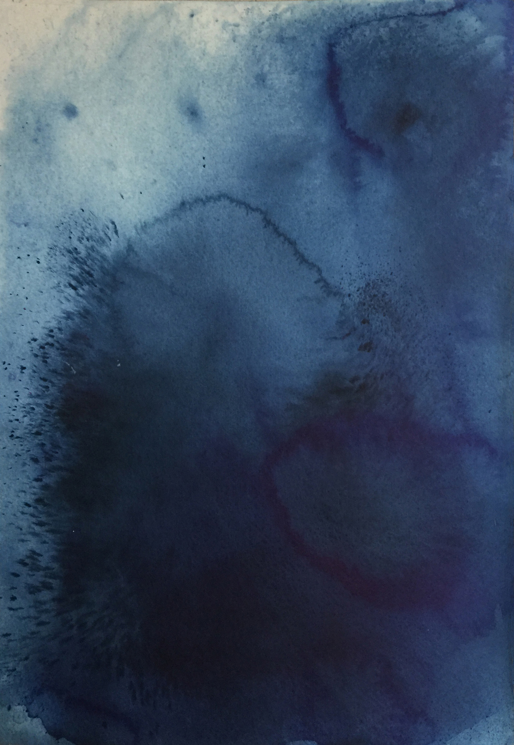 Flow Series, pigment and ink on paper, Ink and Indigo _01.jpg