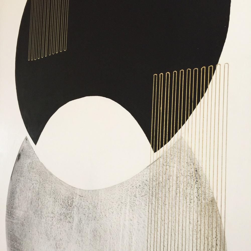 Emily Mann, Vesica Venture 1, detail,  mixed media on canvas, 60x48, inkandindigo.jpg