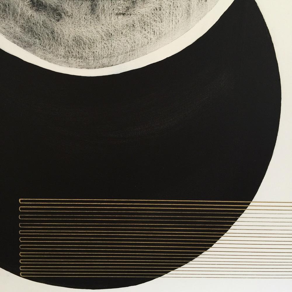 Emily Mann, Vesica Venture 3, detail, mixed media on canvas, 60x48, inkandindigo.jpg