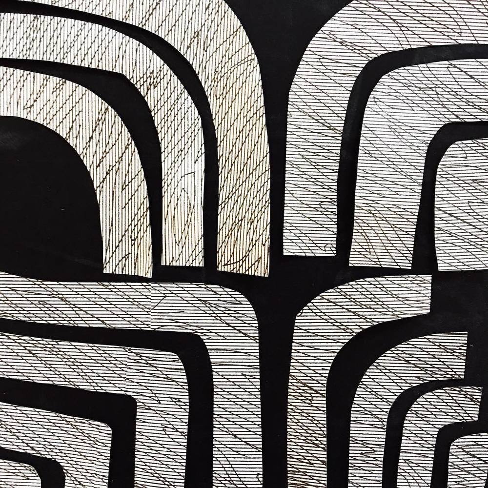 ink and indigo, emily mann, pattern play 2, collaged security envelopes, modern collage.jpg