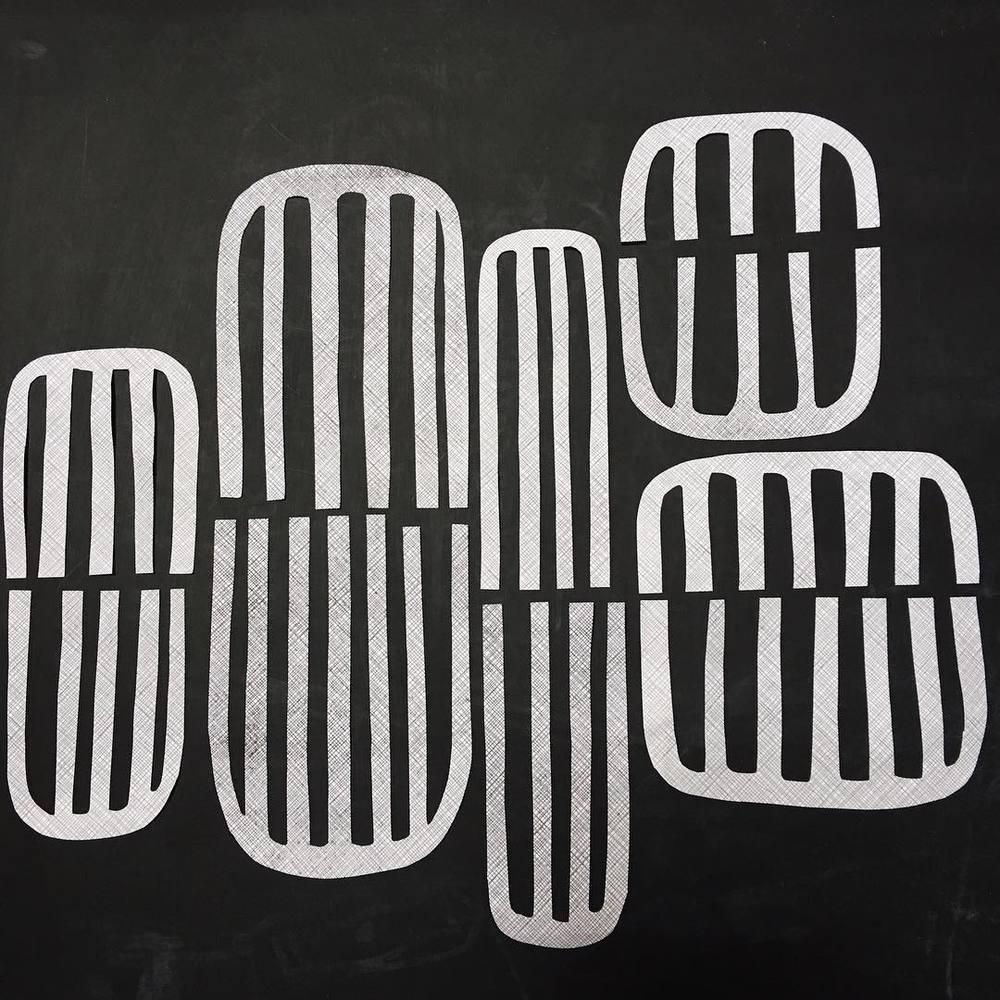 ink and indigo, emily mann, pattern play 6, collaged security envelopes, modern collage.jpg