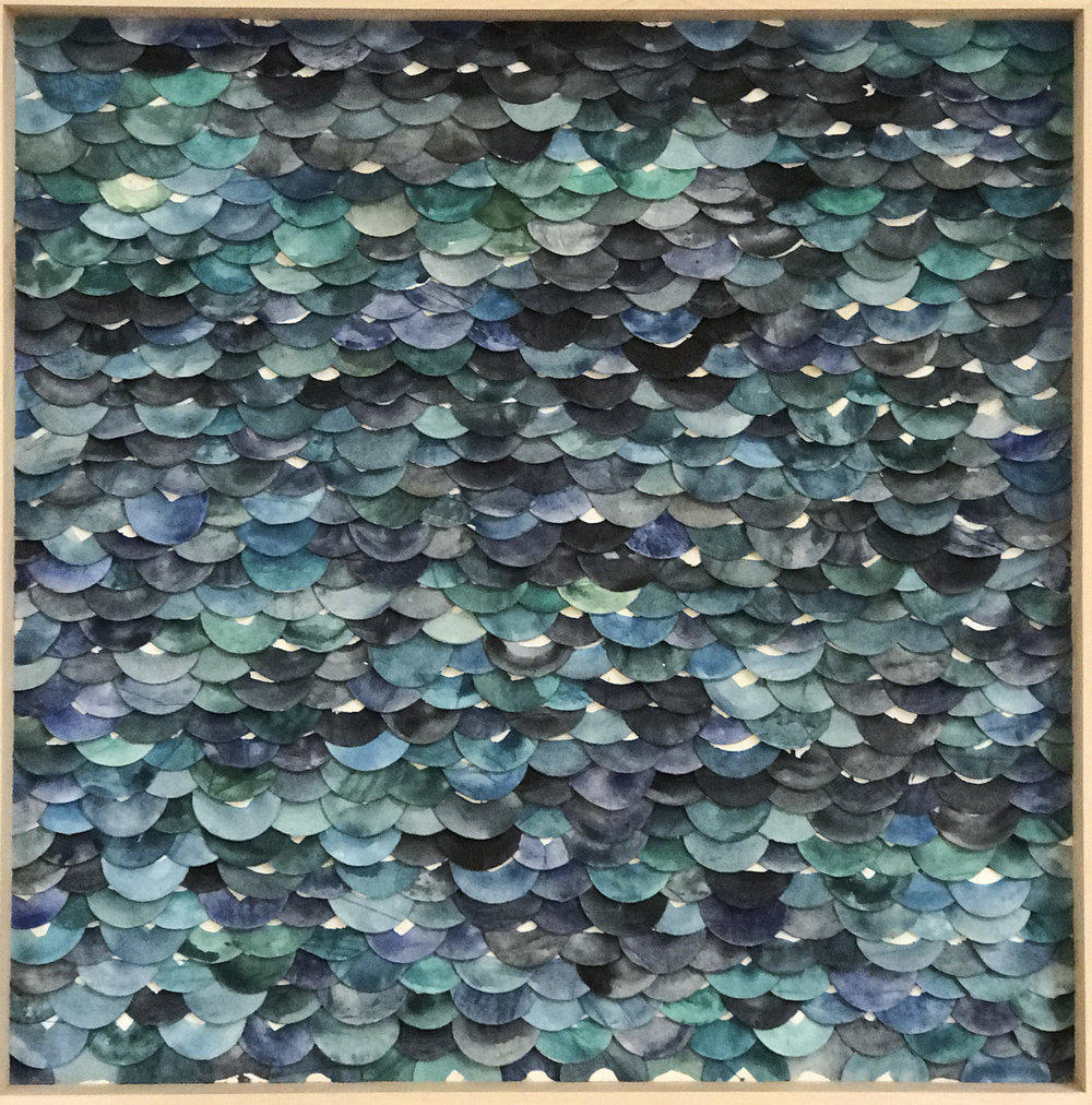 Emily Mann, Ink and Indigo, Swells and Shores Series, clay dimensional wall sculpture, 36x36in00.JPG