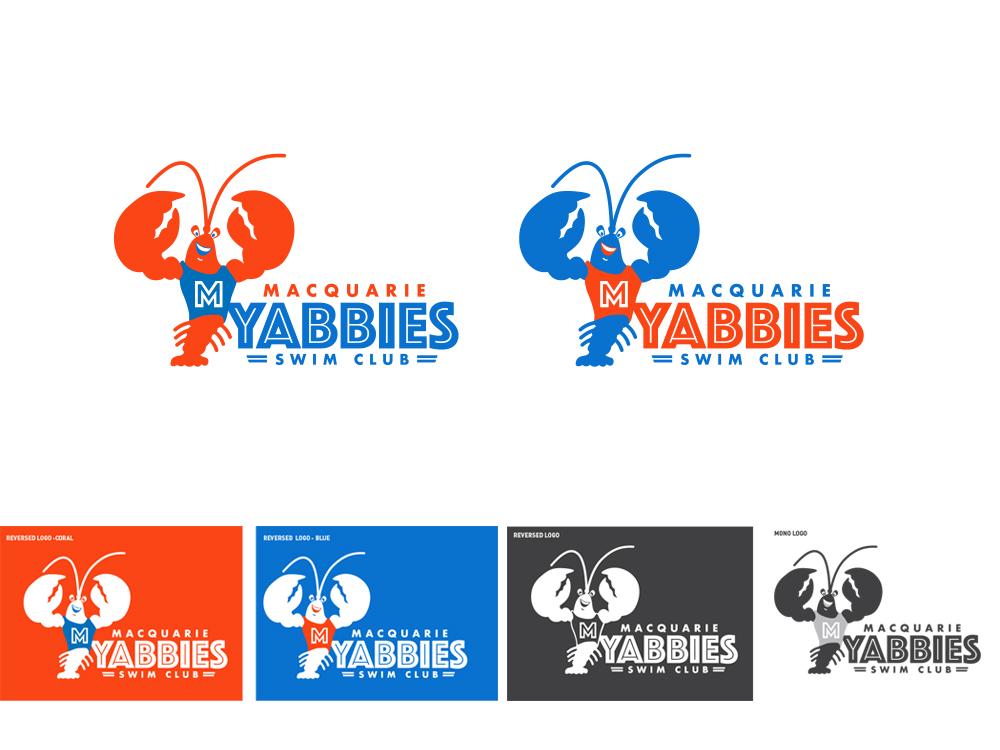 Macquarie Yabbies Swim Club logo files