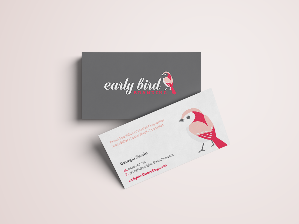 Early Bird Branding Business cards Dubbo