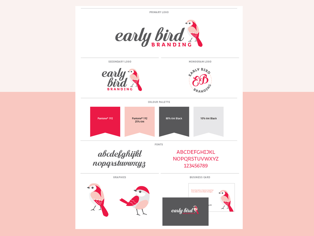 Early Bird Branding Brand board