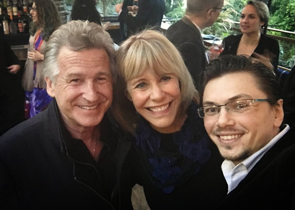 With violinists extraordinaires Bruce Dukov and Pam Gates!  If you have been to the movies, you have heard their violin skills performed on every single Hollywood Blockbusters out there.  Can't wait to work with the both of them really soon!