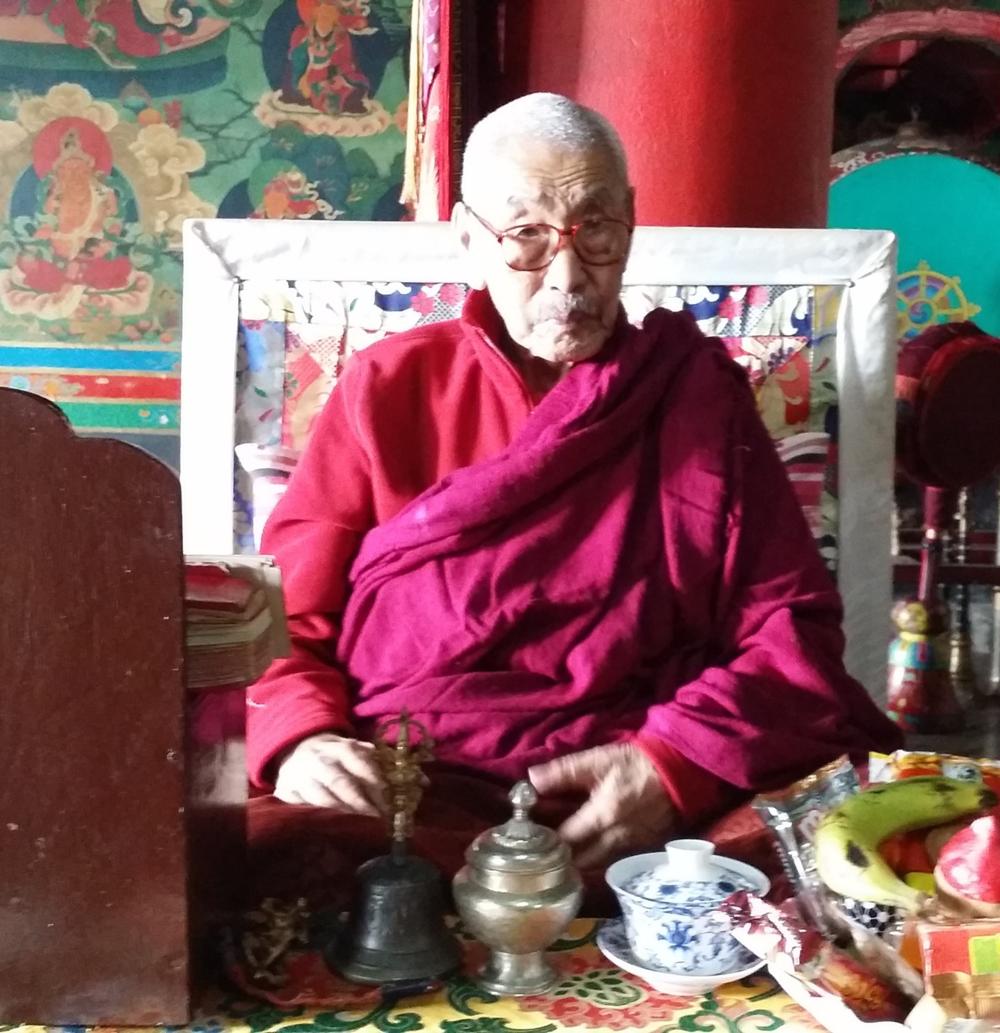 Ven. Lama Tsarak Gonpo Tenzing Rinpoche,Zangdok Palri Monastery, 2015