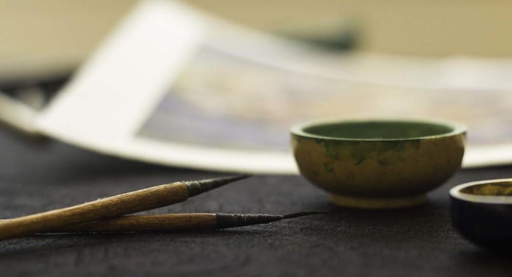 Handmade brushes & pigments