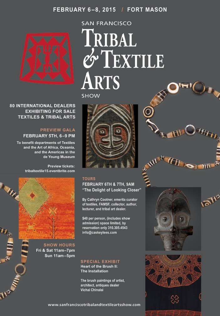 SF TRIBAL & TEXTILE ARTS SHOW San Fransisco, CA, Feb 5-8th Exhibition of Pema Namdol's third book, Celestial Portfolio.