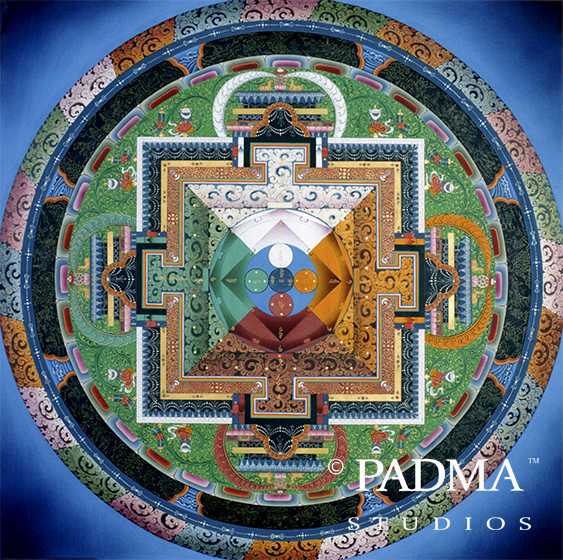 Two-dimensional Shi-Tro Mandala Painting