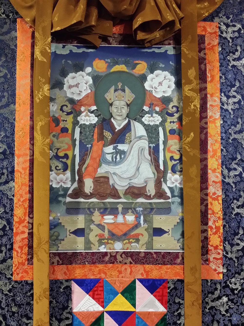 Kyabje Dudjom Rinpoche thanka