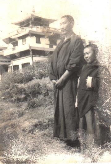Lama Gonpo with Pema Namdol at Zangdok Palri Monastery, Kalimpong, India (circa 1980)