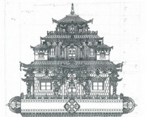 Pema Namdol's original hand drawn Zangdok Palri design, which has become a benchmark for several Zangdok Palir Temples currently being built throughout the world.