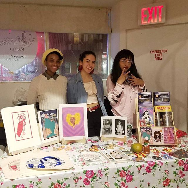 Starting today off with @spicymangocomics🔥Daisy Ruiz, Rachelle Hall, and Julia Mata are three young women based in New York with roots in the West Indies, Mexico, and Central America. They show what it's like to be first generation American girls through their comics. Each one has their own style, but they work together to sell handmade comics, zines, stickers, prints, and apparel. 〰 Find them at #NLWfest2018 on Sunday, September 30th! . . . #NLWfest2018 Countdown: 24 días.  #NewLatinWave #LatinX #BrooklynBazaar #Comics #illustrators #FirstGen #Comics #Zine #HereToStay