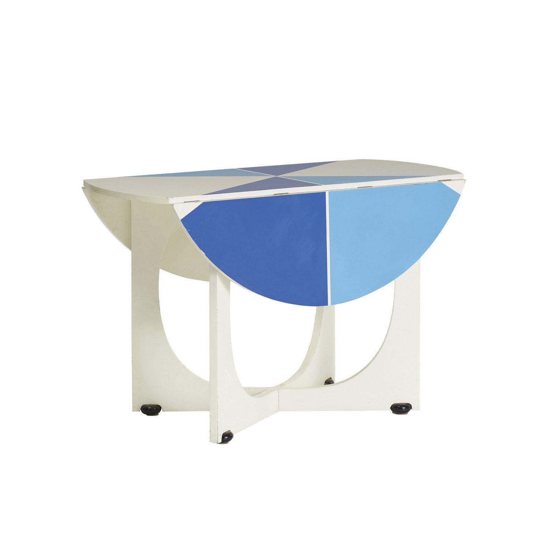 "Italian Mid Century Modern ""Apta"" Circular Folding Table by Gio"