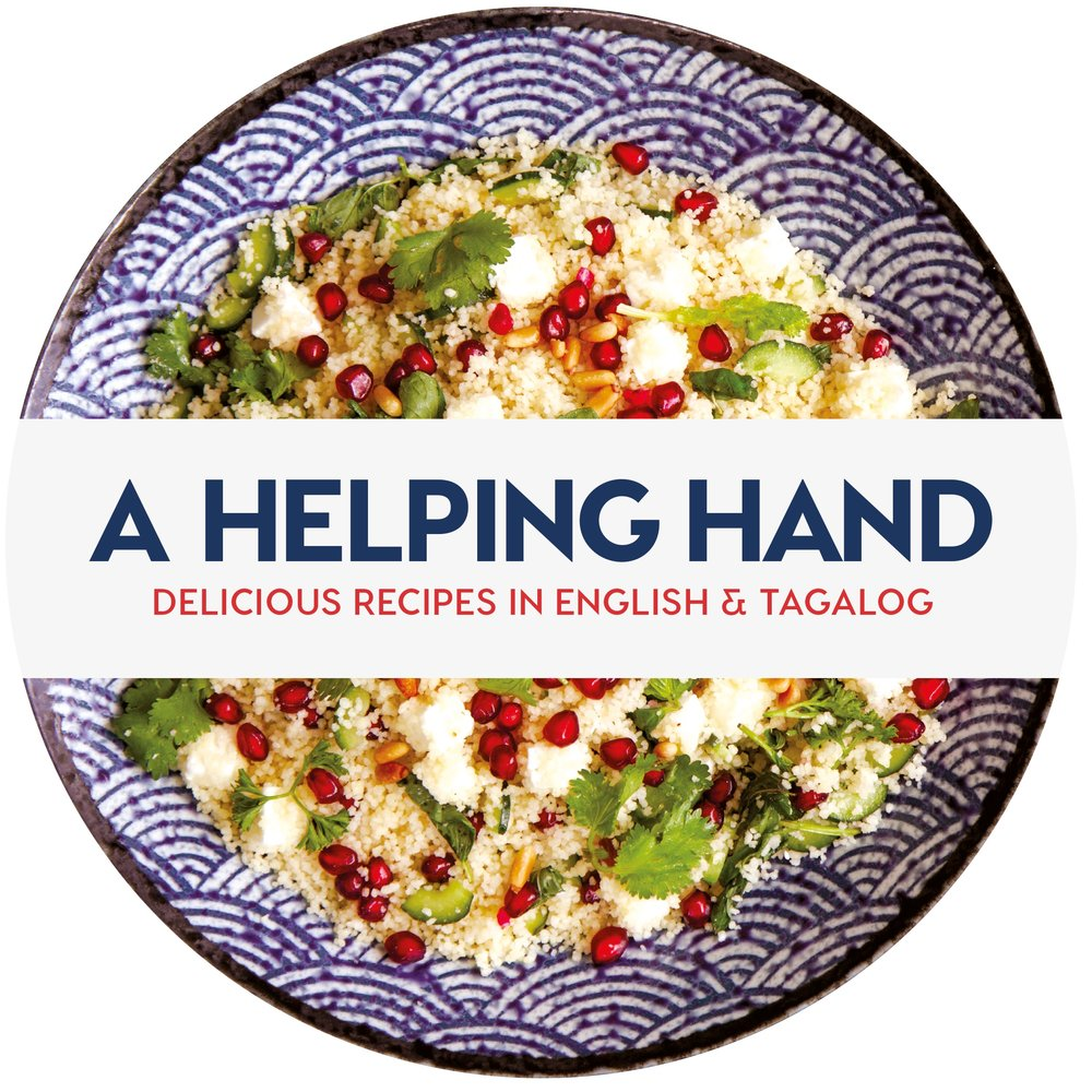 A Helping Hand: Delicious Recipes in English & Taglog; by Frog Michaels