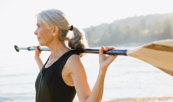 woman paddler kayaker