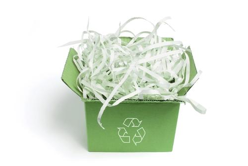 shredded paper waste
