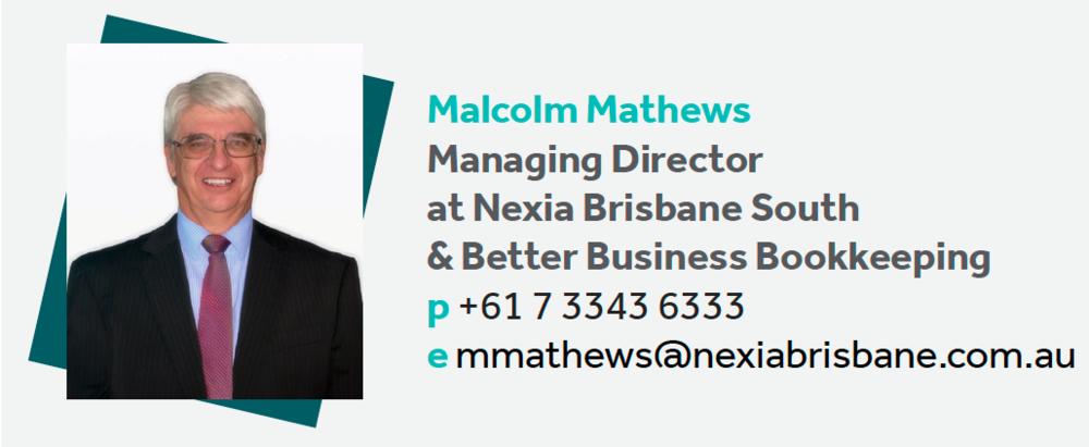 Malcolm Mathews- Contact details