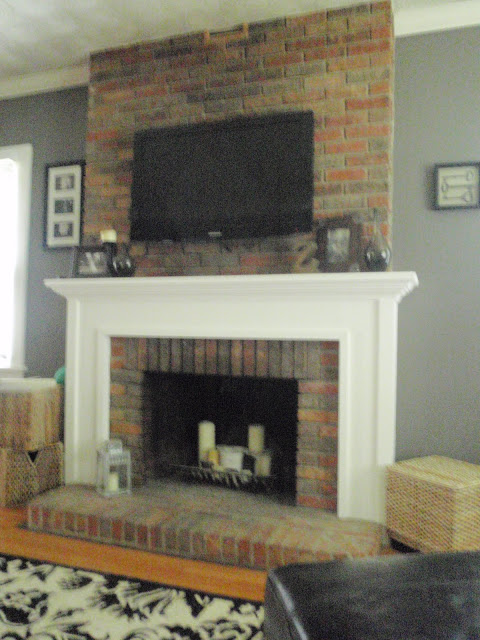Living Room Mounting A Tv To A Brick Fireplace Carla Like It Is