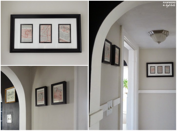 Paris Michelin Guide Map Wall Art DIY Carla Like It Is - Frames for old maps