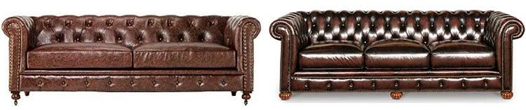 Genial Gordon Tufted Sofa: Home Decorators Collection Edgar Leather Sofa: HOM  Furniture