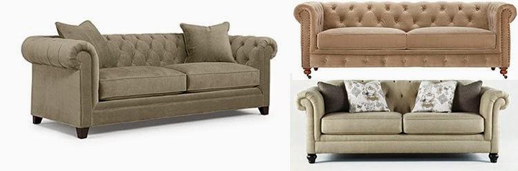 Martha Stewart Collection Saybridge Fabric Sofa: Macyu0027s Hindell Park Sofa:  Ashley Furniture Gordon Tufted Sofa Sage Velvet: Home Decorators Collection