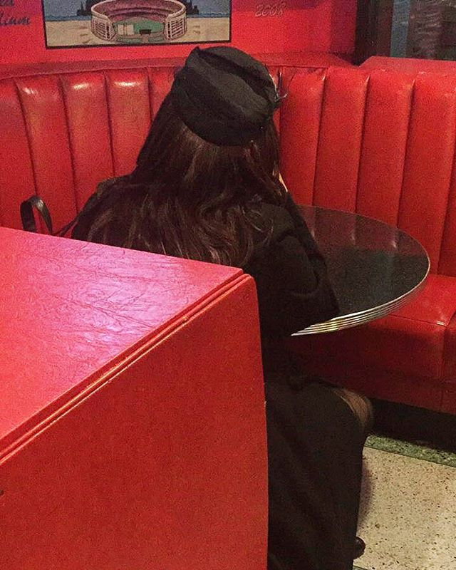 Two Boots & a hat | LES | by @emmapratte #pillboxhat #pizzaparlour #alone