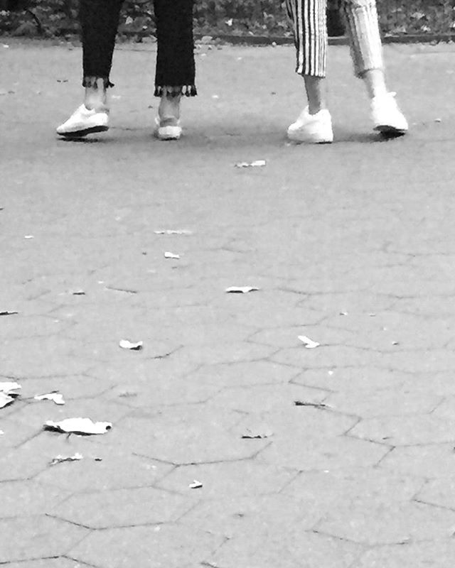 Two twos | Washington Square Park | by @emmapratte  #stripes #point #sneakers