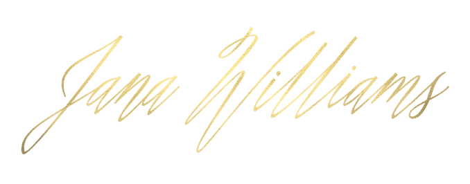 """http://jana-williams.com/  I love the gold in this logo. This typeface creates a more formal look. It almost has a """"fine art"""" look to it which is what she photographs."""