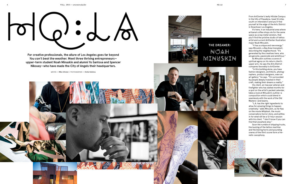 ArtCenter College of Design DOT Magazine