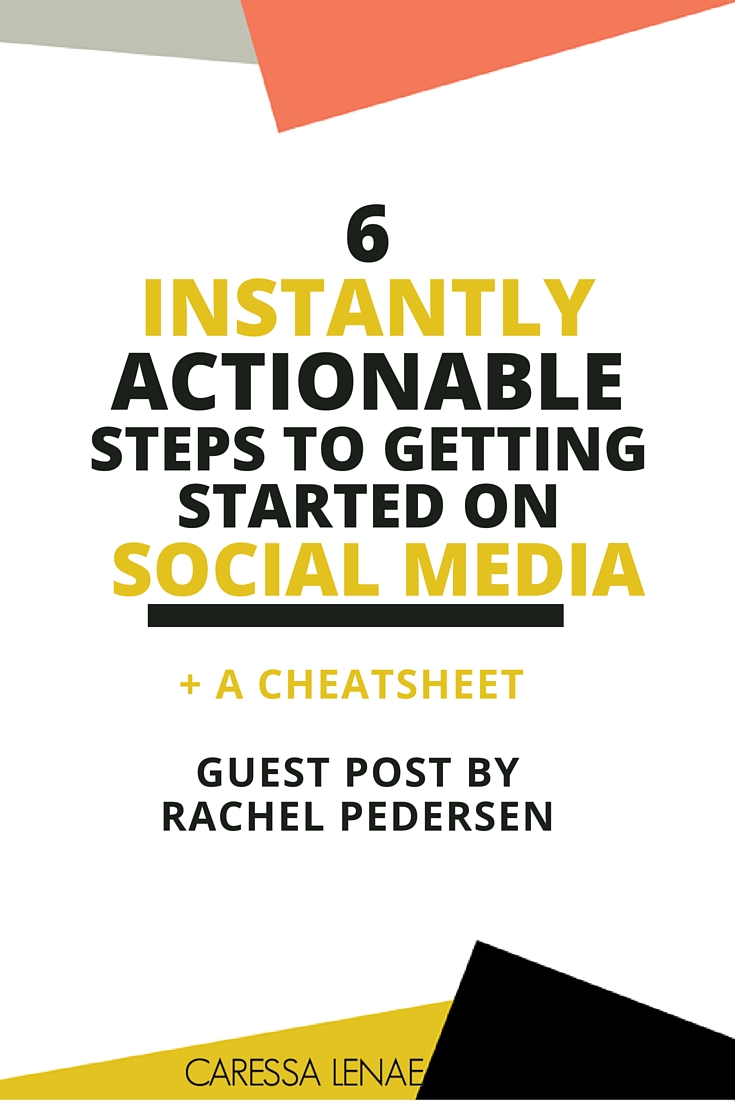 Don't know where to start with social media? It can be an overwhelming task but, here are 6 instant steps to get you started on social media today. Plus, be sure to download your free cheat-sheet to get you going. via @CaressaLenae