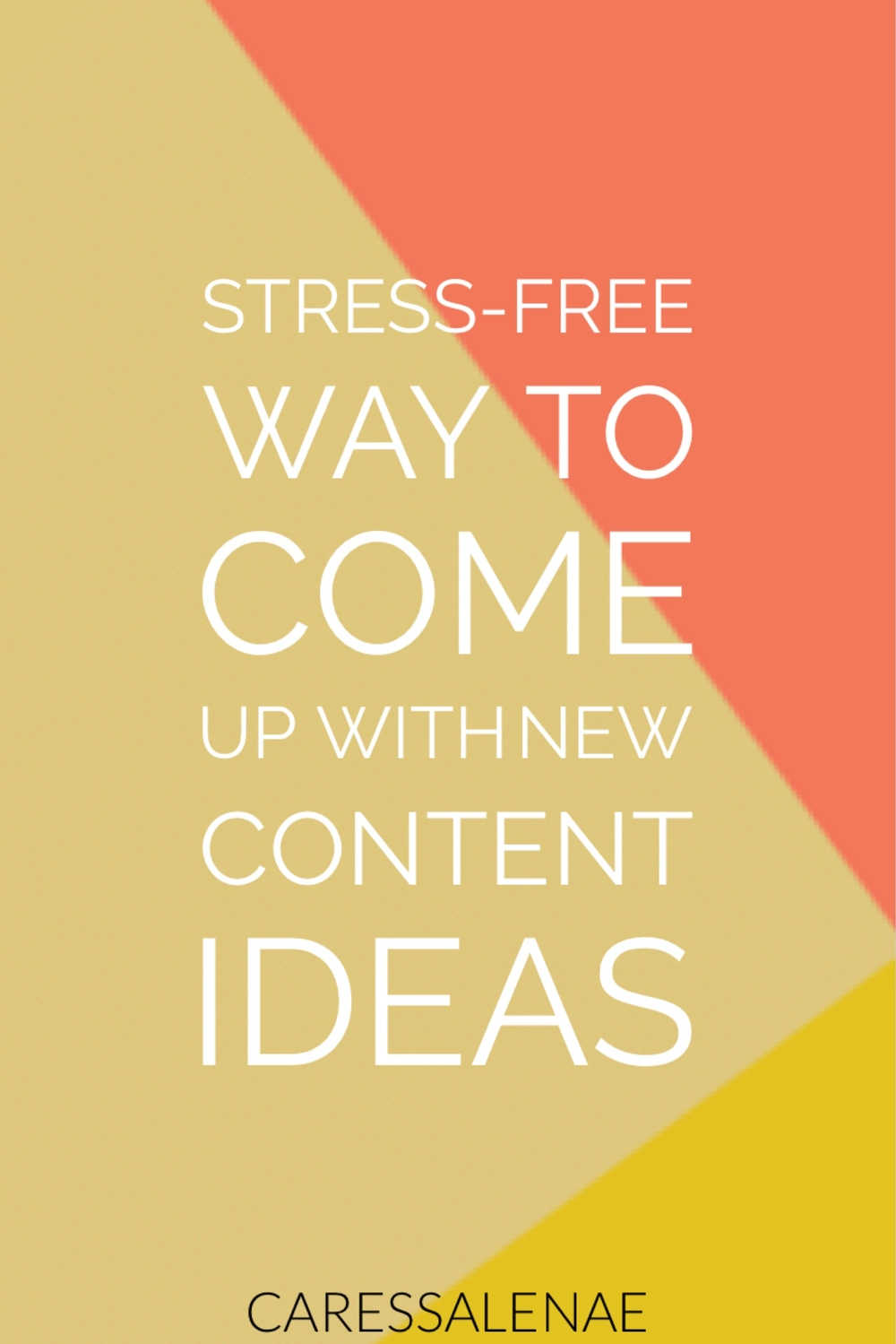 Creating content can be simple or forever a headache. Let me help you take out the stress with my best tip for creating content the stress-free way. via @CaressaLenae