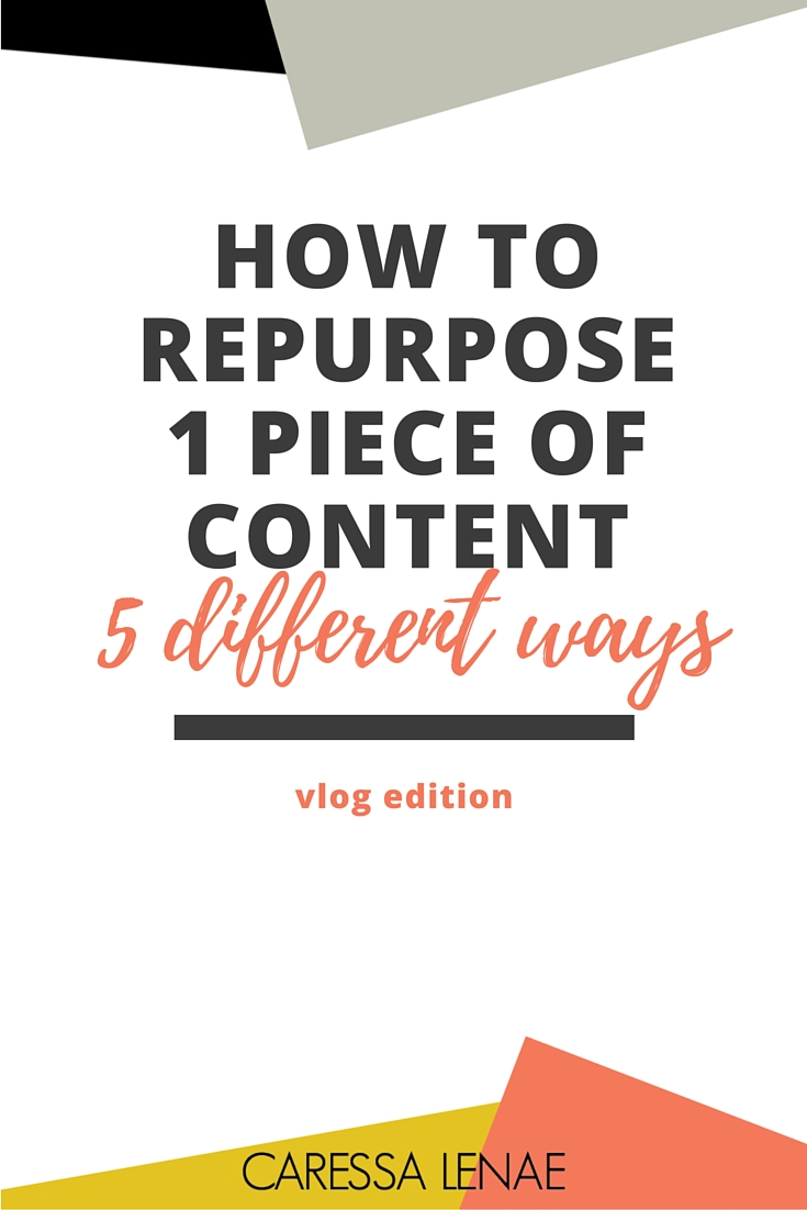Increase your return on the investment with your blogging efforts using these 5 easy ways to repurpose or syndicate your content on larger platforms via @CaressaLenae