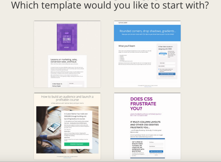 good convertkit forms and landing pages