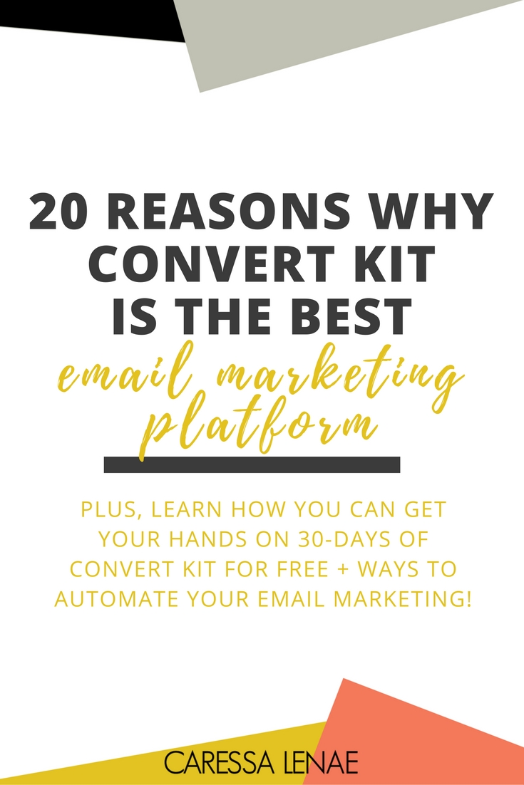 Ready to take your email marketing to the next level? From beginner bloggers to advanced entrepreneurs, Convert Kit is your email marketing solution and I am sharing 20 reasons why you will be obsessed with Convert Kit and how you can grab 30-days free! via @CaressaLenae