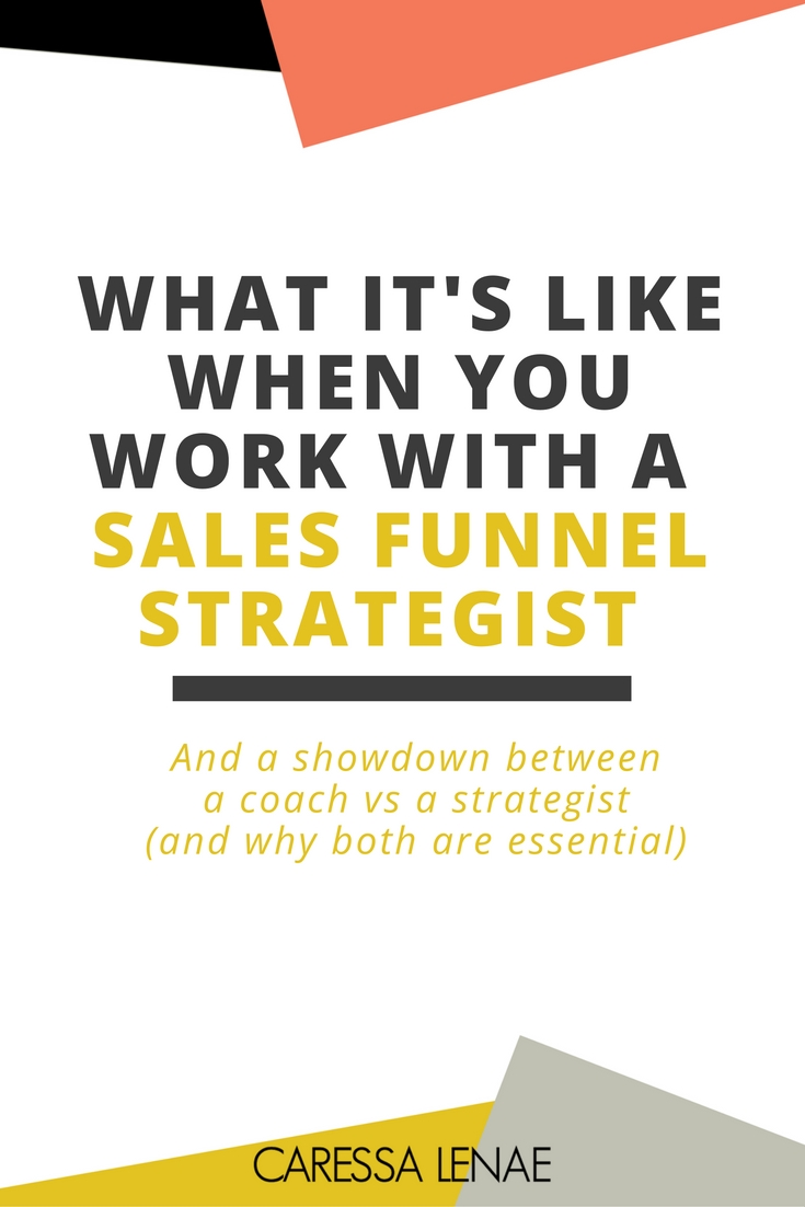 What's the difference between a sales funnel coach and strategist? How do you know when you need either one? What is like to work with a sales funnel strategist? I answer all of these questions and more in this blog post and more. Plus, you can see why a good mix is essential for your passive income needs via @CaressaLenae