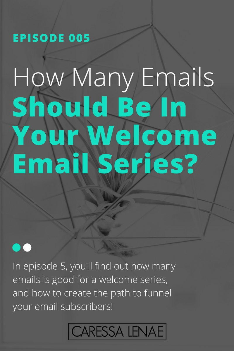In episode 5 of The Business Casual Podcast, you'll find out how many emails is good for a welcome series, and how to create the path to funnel your email subscribers! via @CaressaLenae