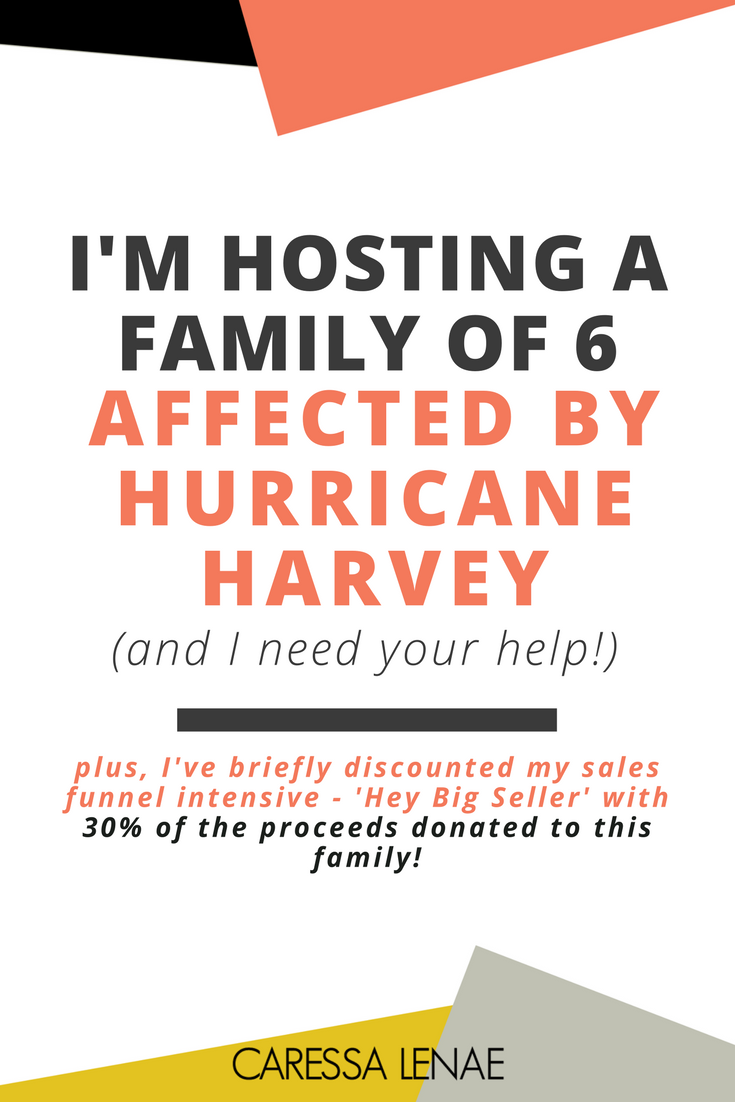 This family lost everything during Hurricane Harvey and they are in need of any help from friends and strangers. Which is why I am reaching out and briefly sharing their story. Plus, 30% of my 'Hey Big Seller' package will be donated to the family throughout the month of September. via @CaressaLenae